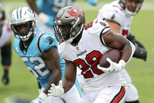 Fournette gradually carving role with Brady-led Buccaneers