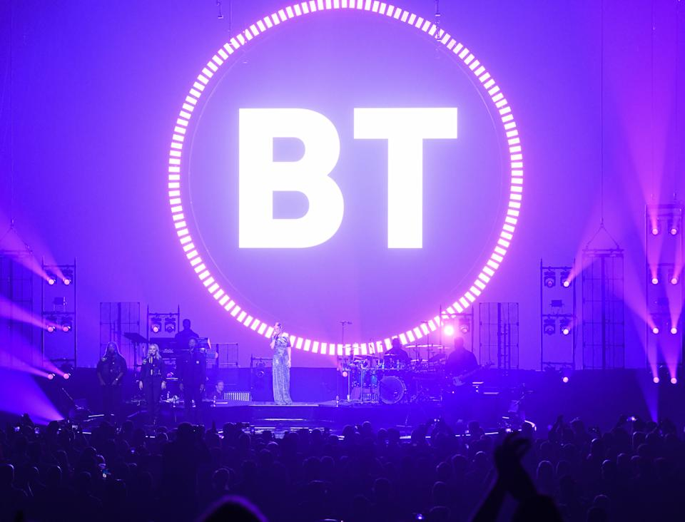Embargoed to 0001 Friday November 08 EDITORIAL USE ONLY File photo dated 17/10/19 of the BT logo. The telecoms giant is to offer home visits by technology experts as part of a new phone and internet plan.