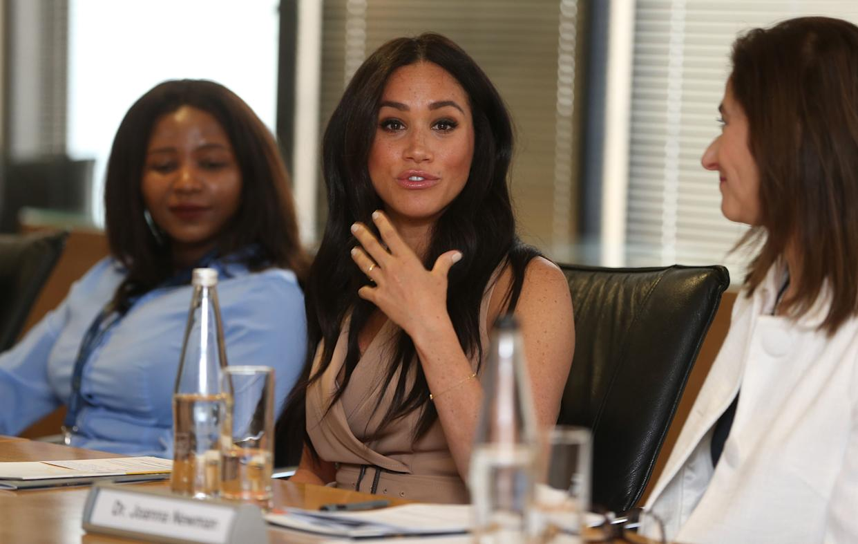 Meghan participated in a roundtable discussion at the University of Johannesburg on Oct. 1. (Photo: Pool via Getty Images)