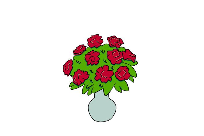 An illustration of a carnation