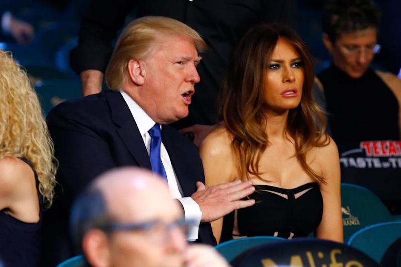 Melania Trump has hit back after Donald Trump's ex-wife called herself the real First Lady. Photo: Getty Images