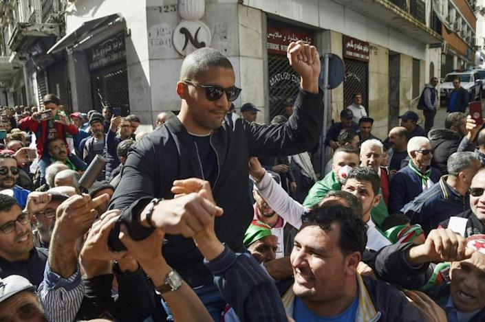 Algerian journalist Khaled Drareni, 40, was arrested on March 29 on charges of 'inciting an unarmed gathering' and 'endangering national unity' after covering demonstrations by anti-government protesters