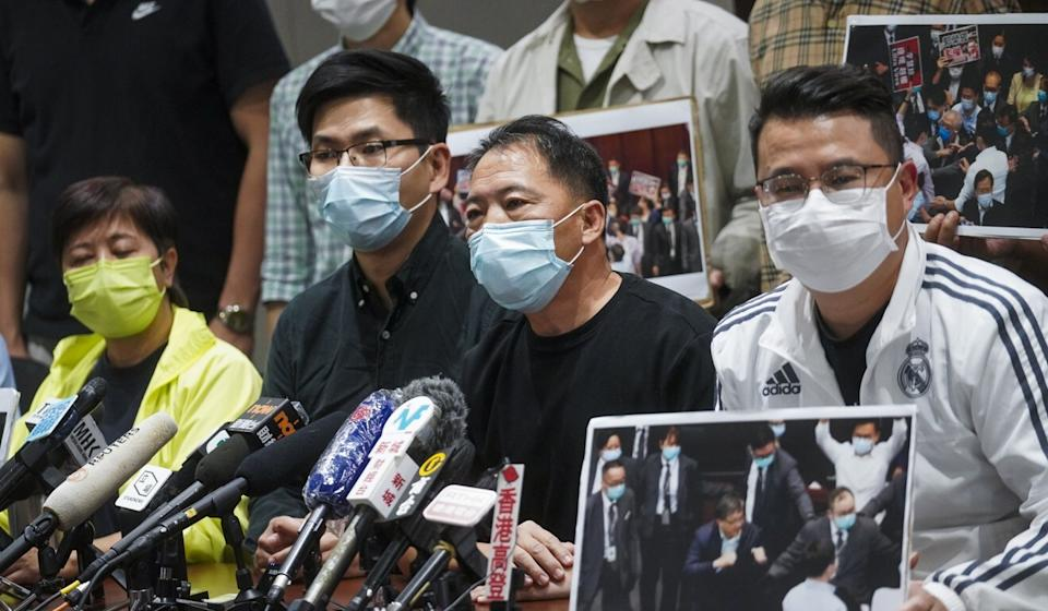 (From left) Helena Wong, Kwok Wing-kin, Wu Chi-wai and Andrew Wan were among those arrested. Photo: Winson Wong