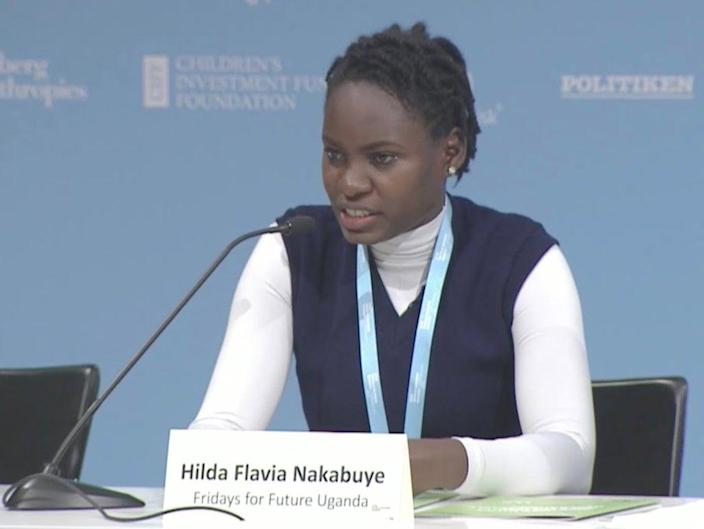 Hilda Flavia Nakabuye founded Fridays for Future Uganda, which now has more than 50,000 members (C40 Cities/YouTube)