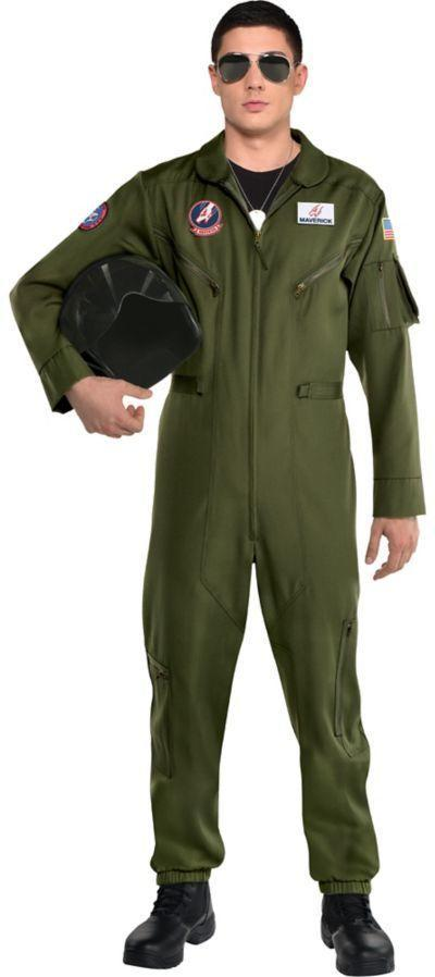 """<p><strong>Maverick</strong></p><p>partycity.com</p><p><strong>$59.99</strong></p><p><a href=""""https://www.partycity.com/maverick-flight-suit-costume-for-men---top-gun-2-P843013.html?dwvar_P843013_size=Standard+Size&cgid=group-costumes-tv-movie"""" rel=""""nofollow noopener"""" target=""""_blank"""" data-ylk=""""slk:Shop Now"""" class=""""link rapid-noclick-resp"""">Shop Now</a></p><p>Maybe you bought this one last year. Well, now the movie is finally coming out and you can stop wearing it by yourself on your lawnmower. </p>"""