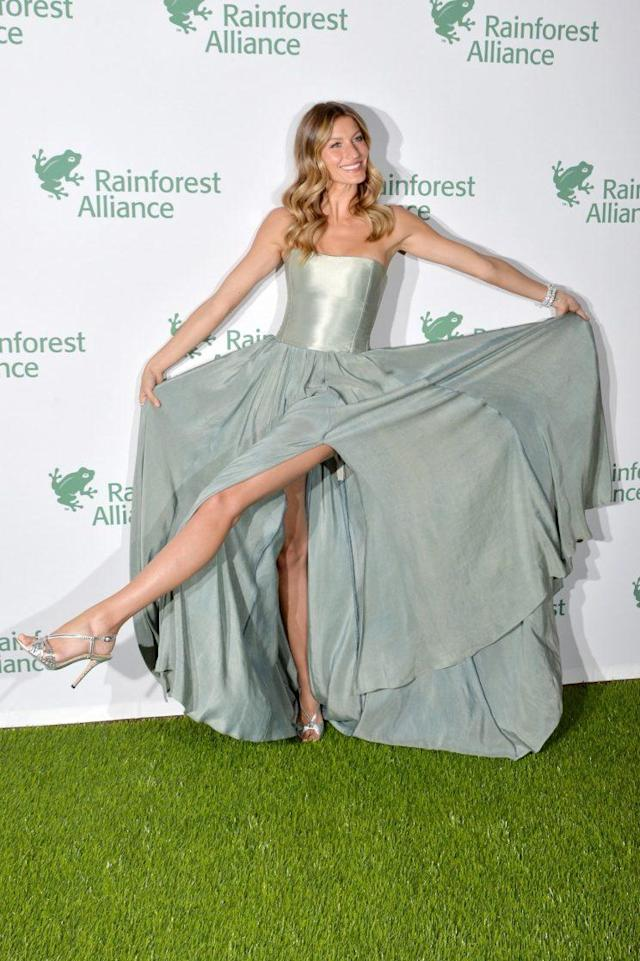 Gisele Bündchen at the Rainforest Alliance Gala. (Photo: Getty)