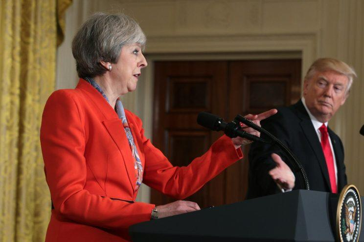 President Trump and British Prime Minister Theresa May. (Photo: Alex Wong/Getty Images)