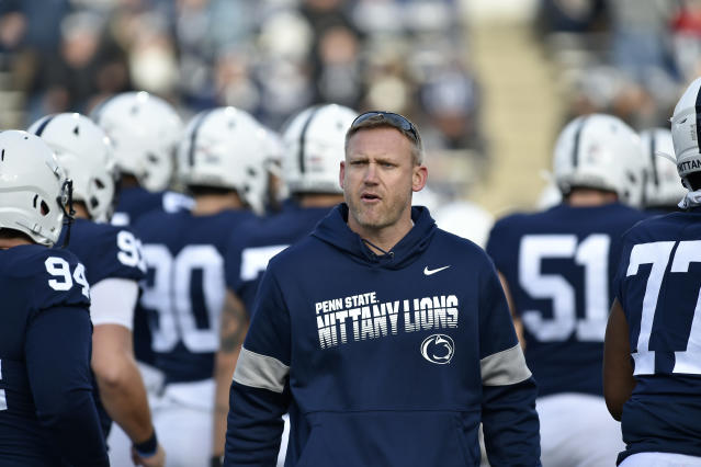 Penn State offensive coordinator Ricky Rahne is heading to Old Dominion, according to sources. (Randy Litzinger/Getty Images)