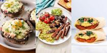"""<p><a href=""""https://www.delish.com/uk/cooking/recipes/a29577587/english-breakfast-traybake/"""" rel=""""nofollow noopener"""" target=""""_blank"""" data-ylk=""""slk:English Breakfast Traybake"""" class=""""link rapid-noclick-resp"""">English Breakfast Traybake</a>, <a href=""""https://www.delish.com/uk/cooking/recipes/a30499789/breakfast-burrito/"""" rel=""""nofollow noopener"""" target=""""_blank"""" data-ylk=""""slk:Healthy Breakfast Burrito"""" class=""""link rapid-noclick-resp"""">Healthy Breakfast Burrito</a> and <a href=""""https://www.delish.com/uk/cooking/recipes/a29249466/churro-french-toast-recipe/"""" rel=""""nofollow noopener"""" target=""""_blank"""" data-ylk=""""slk:Churro French Toast"""" class=""""link rapid-noclick-resp"""">Churro French Toast</a>, you name it, we've got it. If you're looking for breakfast recipes that will get you out of bed in the morning, then you've come to the right place! Forget boring, plain old porridge (although we do have some amazing <a href=""""https://www.delish.com/uk/cooking/recipes/g29018085/porridge-recipes/"""" rel=""""nofollow noopener"""" target=""""_blank"""" data-ylk=""""slk:porridge recipes"""" class=""""link rapid-noclick-resp"""">porridge recipes</a>), treat yourself to something special this weekend. Stuck for inspo? We've got tons of delicious-tasting breakfast recipes. Check 'em out now! </p>"""
