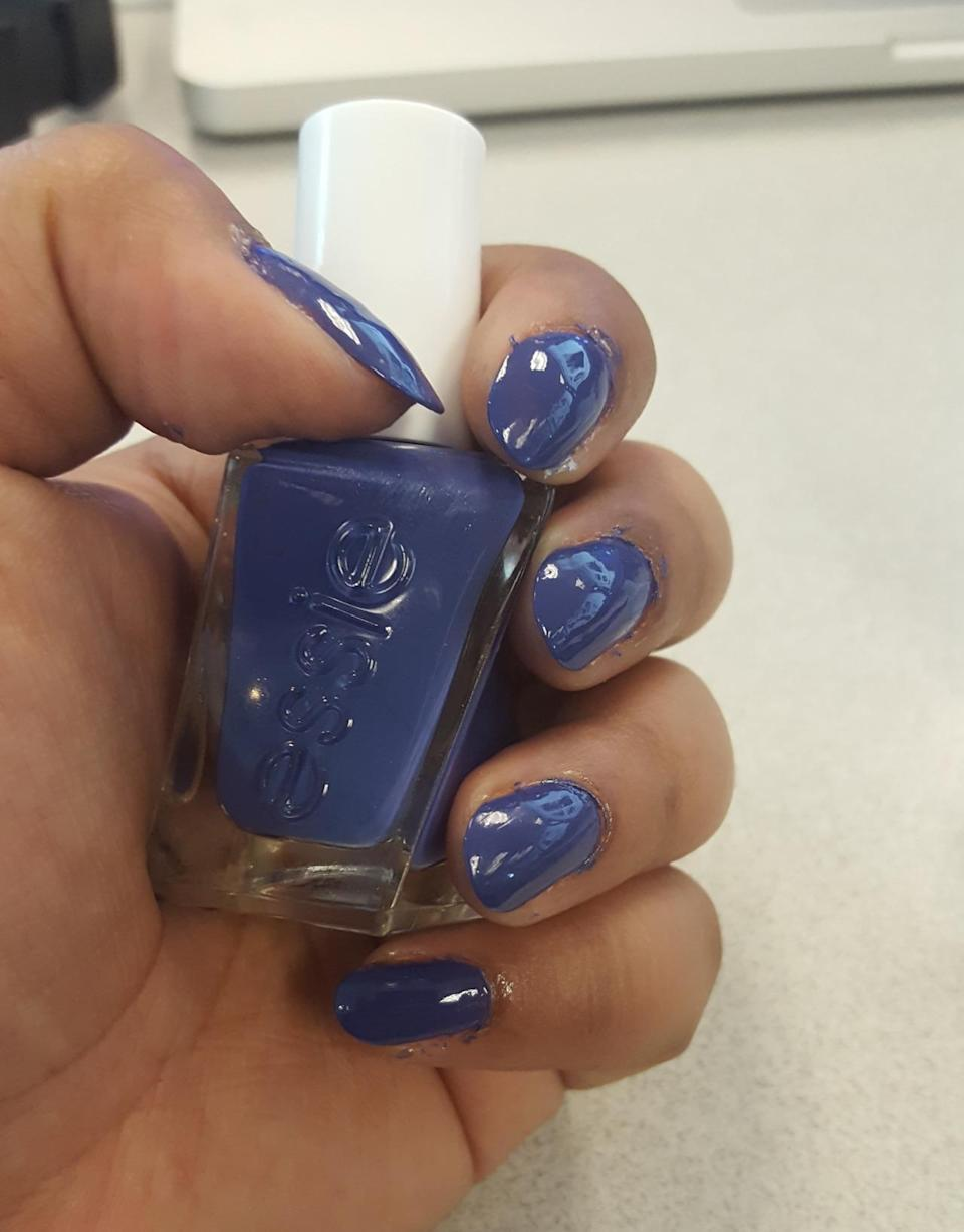"""<p>The latest launch from cult brand, Essie, this polish offers a two-step system with polish and top coat. Claiming to last 14 days, we applied two coats of """"Find Me a Man-nequin"""" followed by the top coat. <i>($14 each)</i></p>"""