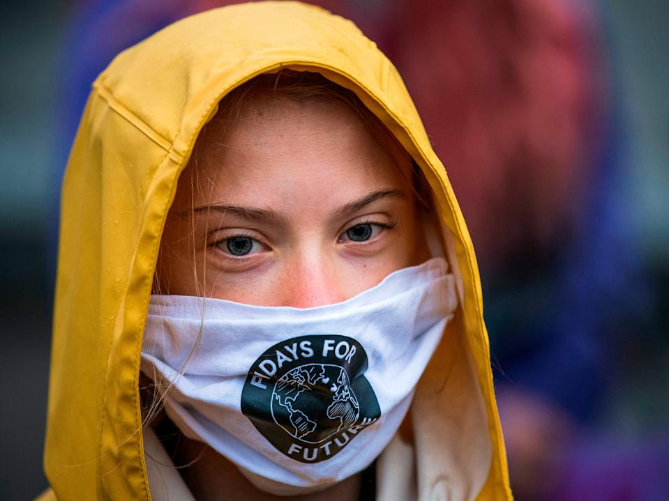Greta Thunberg changed her Twitter bio after Boris Johnson's remarks at a climate summit (AFP via Getty Images)