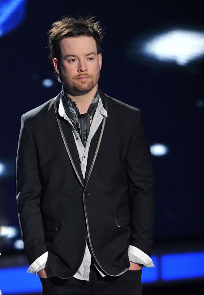"Season 7 runner-up David Cook on <a href=""/american-idol/show/34934"">""Idol Gives Back.""</a>"