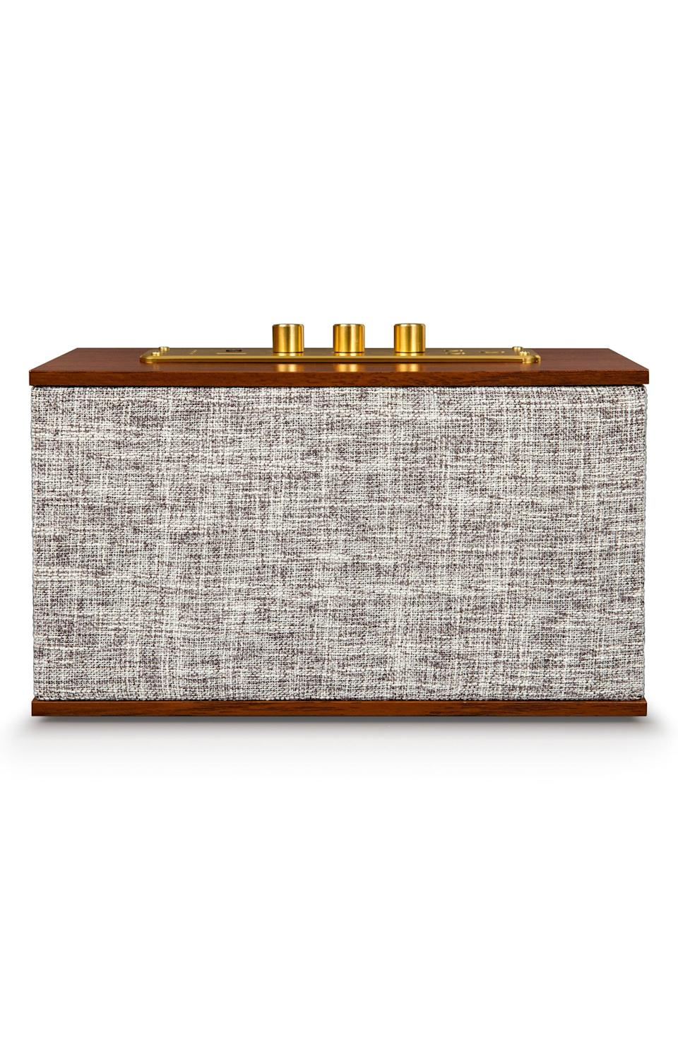 "<p><strong>CROSLEY RADIO</strong></p><p>nordstrom.com</p><p><strong>$94.99</strong></p><p><a href=""https://go.redirectingat.com?id=74968X1596630&url=https%3A%2F%2Fshop.nordstrom.com%2Fs%2Fcrosley-radio-octave-bluetooth-speaker%2F5284360&sref=https%3A%2F%2Fwww.goodhousekeeping.com%2Fholidays%2Fgift-ideas%2Fg28748940%2Fbest-gifts-for-husbands%2F"" rel=""nofollow noopener"" target=""_blank"" data-ylk=""slk:Shop Now"" class=""link rapid-noclick-resp"">Shop Now</a></p><p>Even though his weekly band practice is reserved for the garage, this bluetooth speaker will give the office or living room a similar vibe. It actually connects with his phone or laptop to stream his favorite songs, podcasts, or audiobooks. </p>"