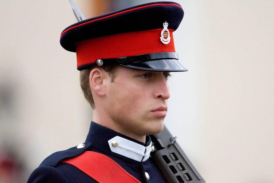 Sandhurst graduates, including William, march in the Sovereign's parade (Tim Clarke/PA) (PA Archive)