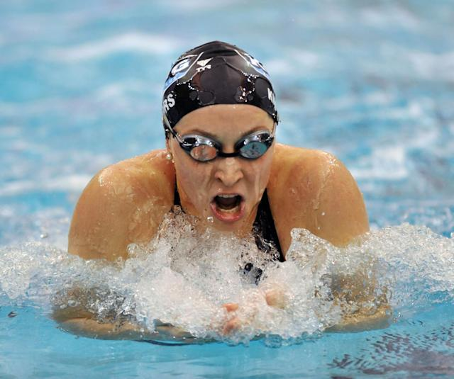 Ariana Kukors swims the Womens 200 yard breaststroke finals during the 2008 USA Swimming Short Course National Championships on Saturday, Dec. 6, 2008 at the Georgia Tech Aquatic Center in Atlanta. Kukors won the race. (AP Photo/Gregory Smith)