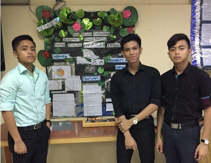 Science high school students invent trash-collecting drone