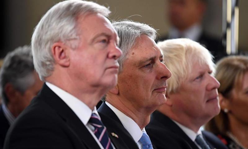 David Davis, Boris Johnson and Philip Hammond