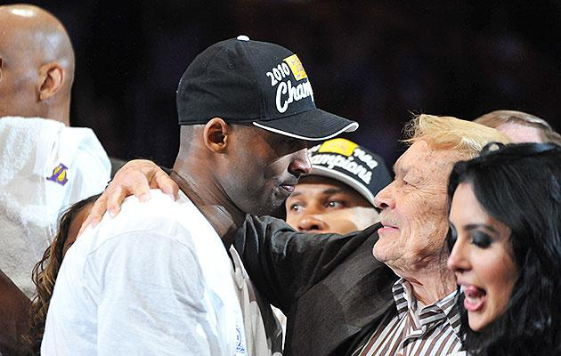 Kobe Bryant and Jerry Buss won five NBA championships together. (NBAE/Getty Images)