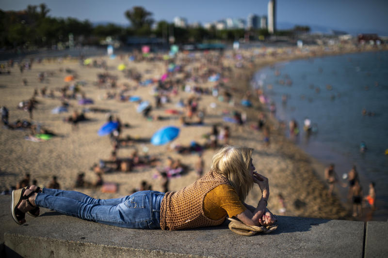 Playa de Barcelona. (AP Photo/Emilio Morenatti)
