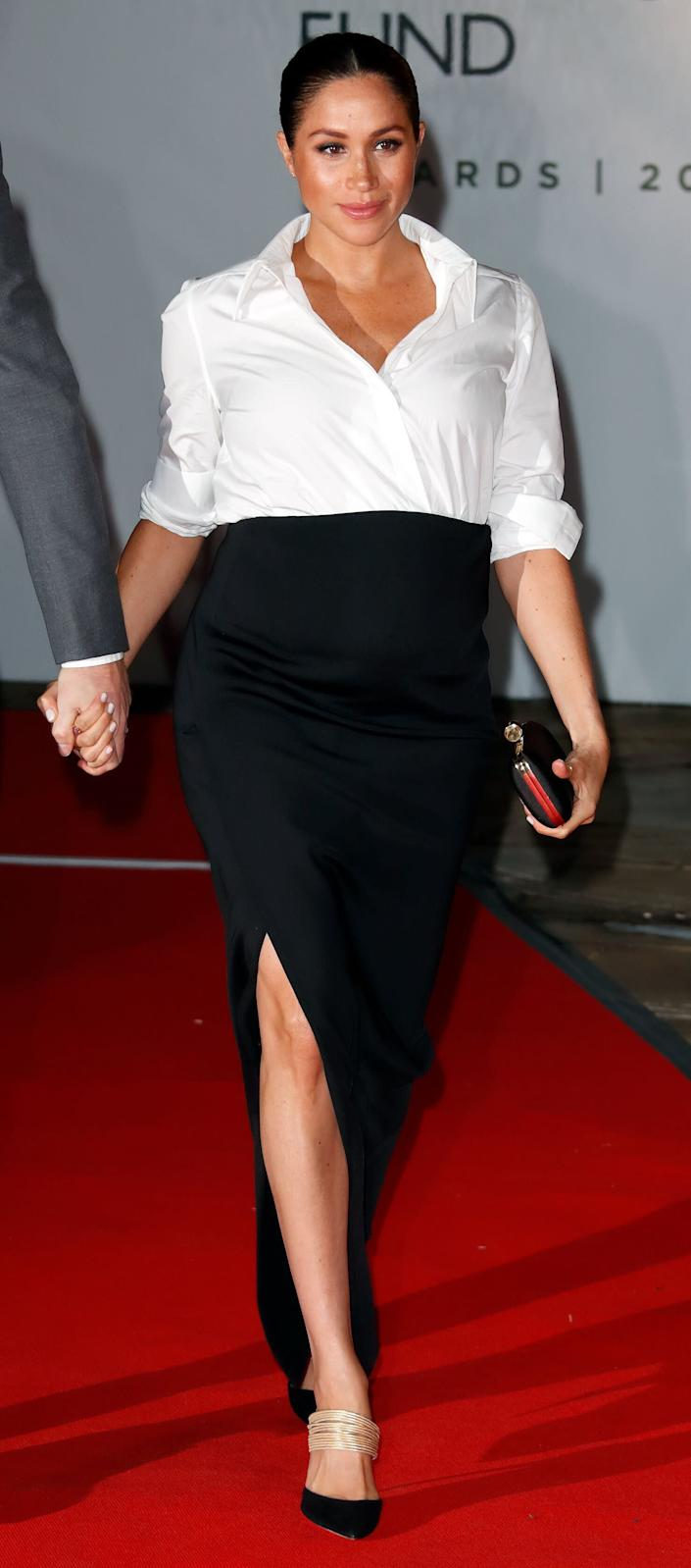 Meghan attends the Endeavour Fund awards at Drapers' Hall in London.