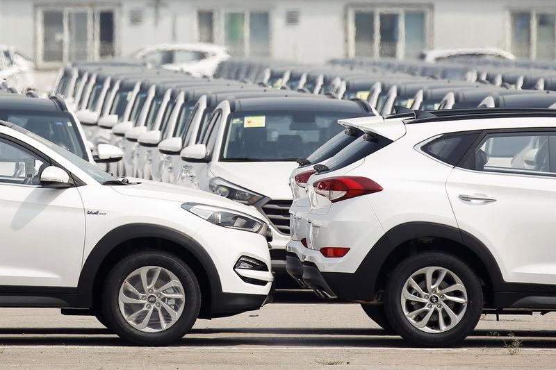 Cars Made By Hyundai Motor Co Are Parked In The Compound Of The South  Korean Automakeru0027s