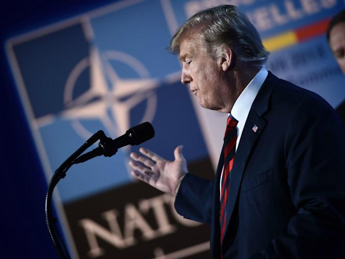 Donald Trump's comments – made on Monday – were met with backlash and within 24 hours he had rowed back on them: BRENDAN SMIALOWSKI/AFP/Getty Images