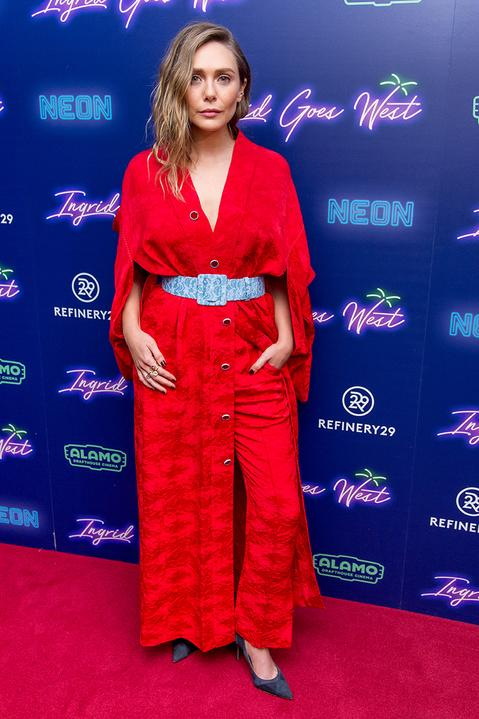 <h2>In Rosie Assoulin</h2>                                                                                                                                                                             <p><p>At the premiere of <em>Ingrid Goes West</em>in New York City, 2017</p>                                                                                                                                                                               <h4>Getty Images</h4>