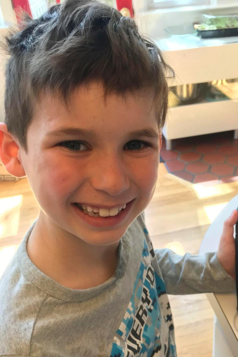 This undated image posted on Maeve Kennedy Townsend McKean's Twitter account shows her son Gideon Joseph Kennedy McKean, whose body was recovered from the Chesapeake Bay on April 8, 2020.
