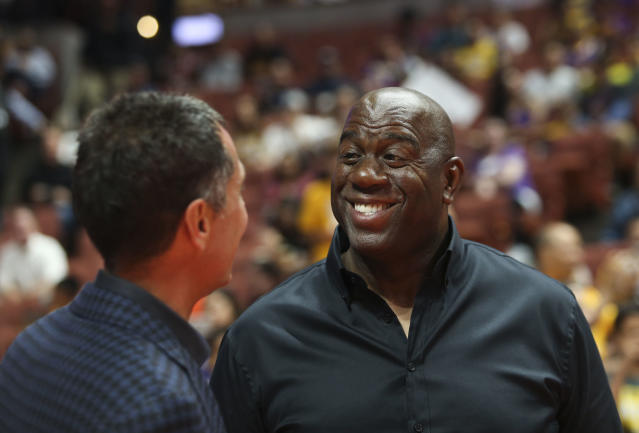 Magic Johnson won't get fooled again. (AP)