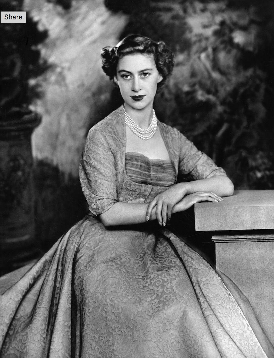 "<p>In 1953, Margaret's sartorial influence was making *actual* news. To quote an article in <a href=""http://www.hrp.org.uk/exhibition-archive/princess-line/the-glamour-years/#gs.=zuGems"" rel=""nofollow noopener"" target=""_blank"" data-ylk=""slk:The Picture Post"" class=""link rapid-noclick-resp""><em>The Picture Post</em></a>, ""what she wears is News. It is seen by thousands of women in person, hundreds of thousands on news reels, millions who read the newspapers and magazines.""</p>"