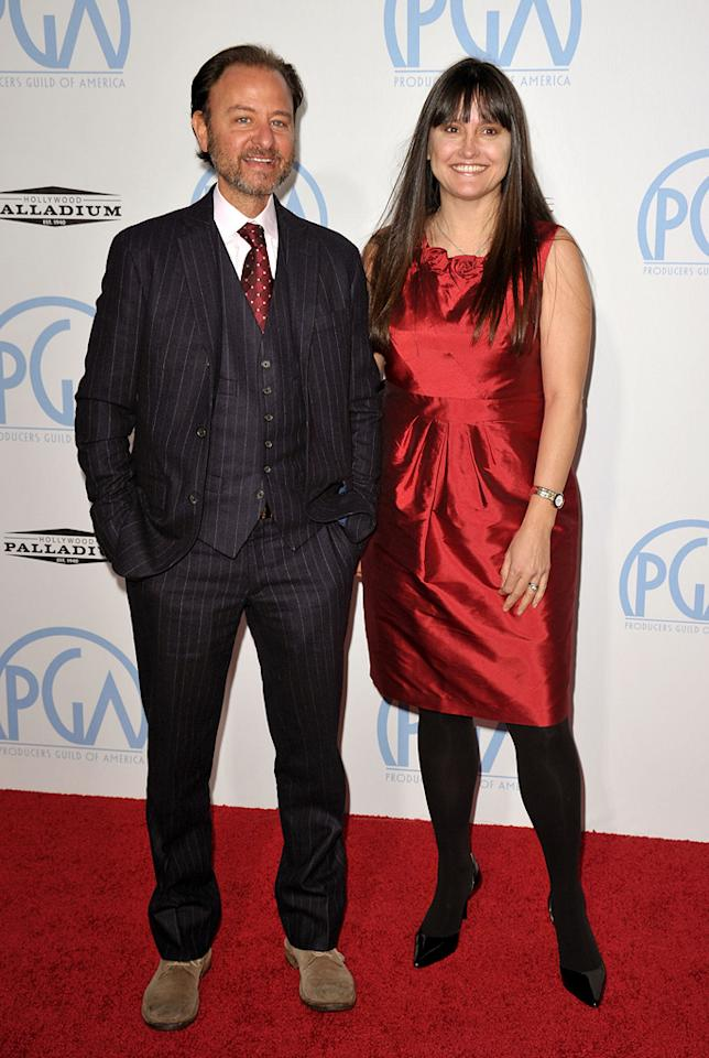 "<a href=""http://movies.yahoo.com/movie/contributor/1800021874"">Fisher Stevens</a> and Paula DuPre Pesman at the 21st Annual Producers Guild Awards in Hollywood, California - 01/24/2010"