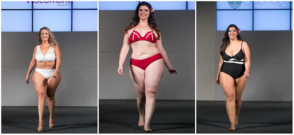 """14th annual plus-size fashion weekend in Sao Paulo """"In the past few years, there has been a great shift in society that encourages the acceptance of differences in other people,"""" said Emma. """"I often get accused of """"promoting obesity"""" and I'd like to clear up the confusion between that and true body positivity."""" <em>(Photo: Getty)</em>"""