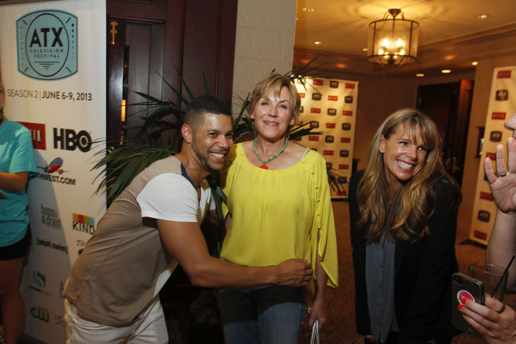 Wilson Cruz, Bess Armstrong, and Devon Odessa attend the Opening Night Party at ATX Television Festival on Thursday, June 6, 2013 in Austin, Texas.