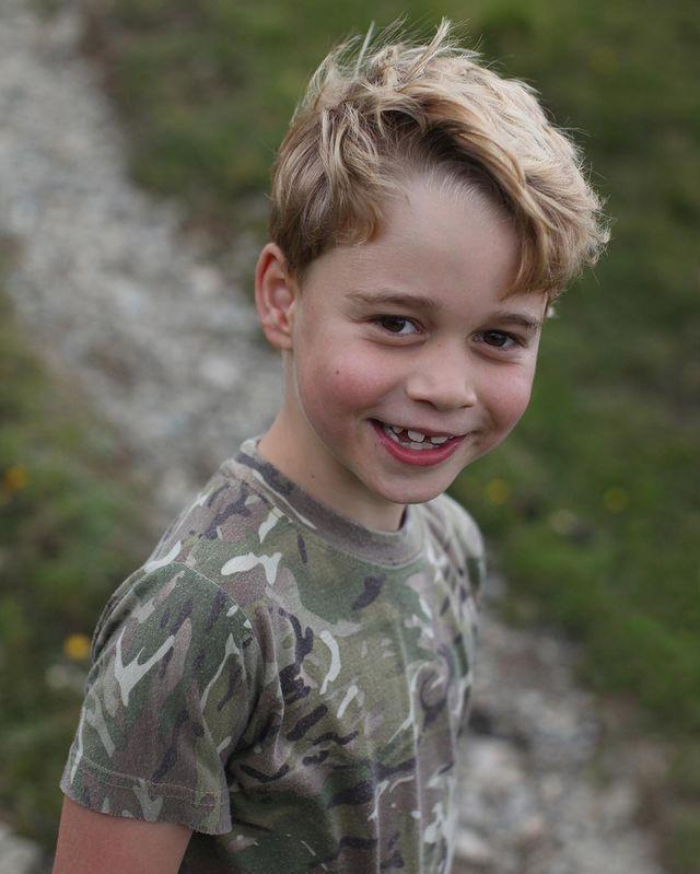 <p>Prince George showed off his smile (complete with his incoming adult teeth!) for his 7th birthday portraits in July.</p>