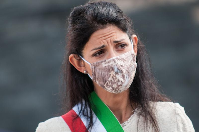 Mayor of Rome Virginia Raggi participates in the commemoration of the Battle of Montagnola on September 10, 2020 in Rome, Italy. (Photo by Andrea Ronchini/NurPhoto via Getty Images) (Photo: NurPhoto via Getty Images)
