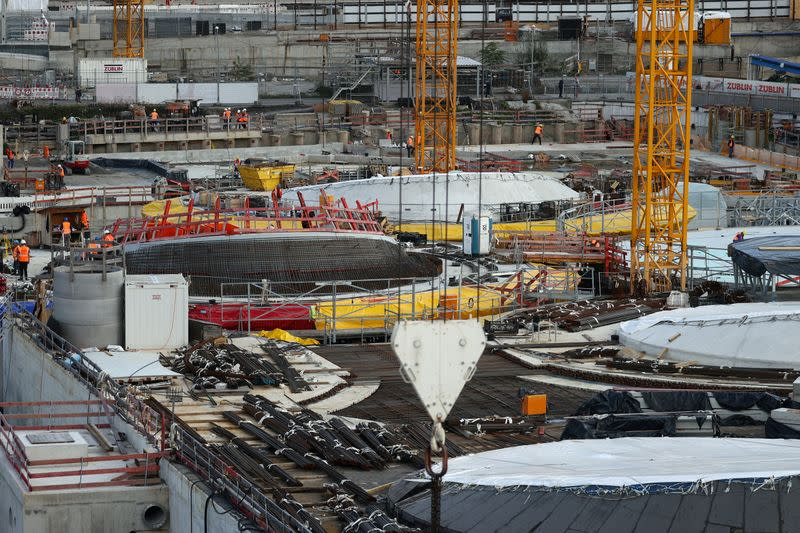 FILE PHOTO: A general view of Stuttgart 21, the new railway station construction site, in Stuttgart