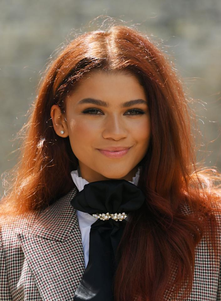 """<p><a href=""""https://www.popsugar.com/beauty/Zendaya-Red-Hair-2019-46279160"""" class=""""ga-track"""" data-ga-category=""""Related"""" data-ga-label=""""https://www.popsugar.com/beauty/Zendaya-Red-Hair-2019-46279160"""" data-ga-action=""""In-Line Links"""">Zendaya</a> debuted her new spicy ginger look in June, prompting many fans to speculate about her identity in <b>Spider-Man: Far From Home</b>.</p>"""