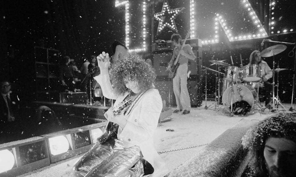 Marc Bolan performing with T Rex in December 1972.