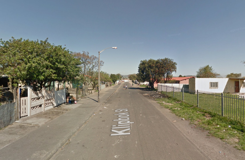 A Google Maps image of Klipbok St, Scottsdene, where Shaida Nathan was shot dead.