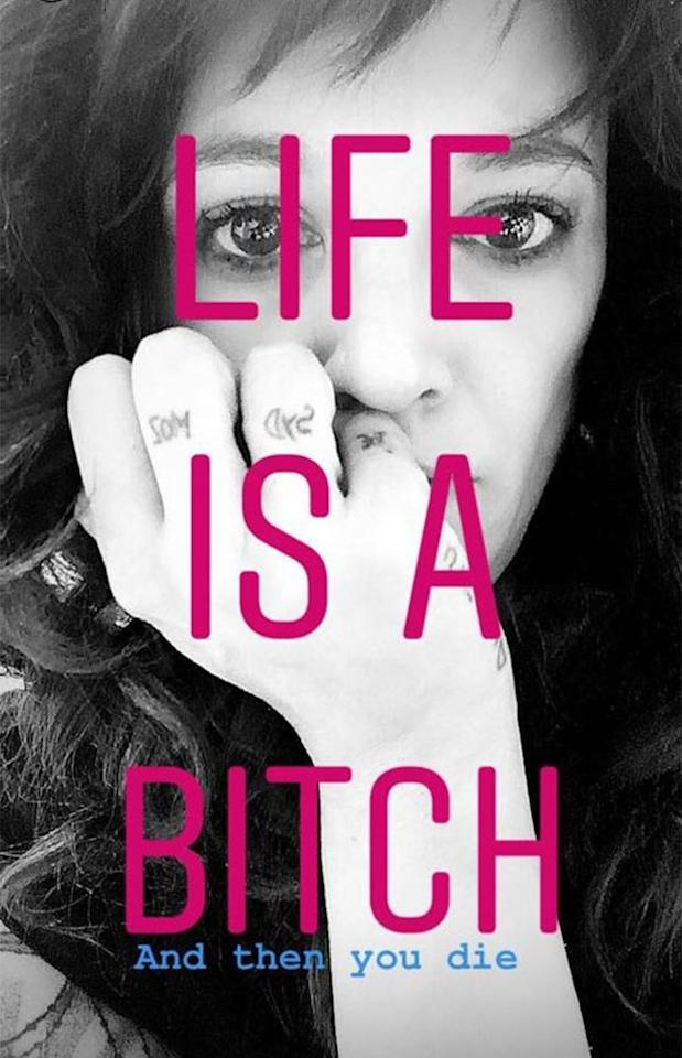 Asia Argento Captions Selfie 'Life Is a Bitch and Then You Die'