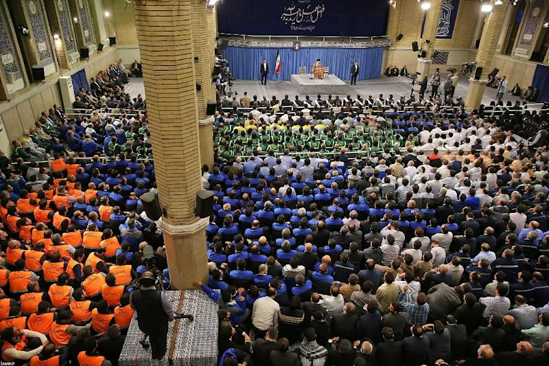 Khamenei addresses workers in Tehran on Wednesday