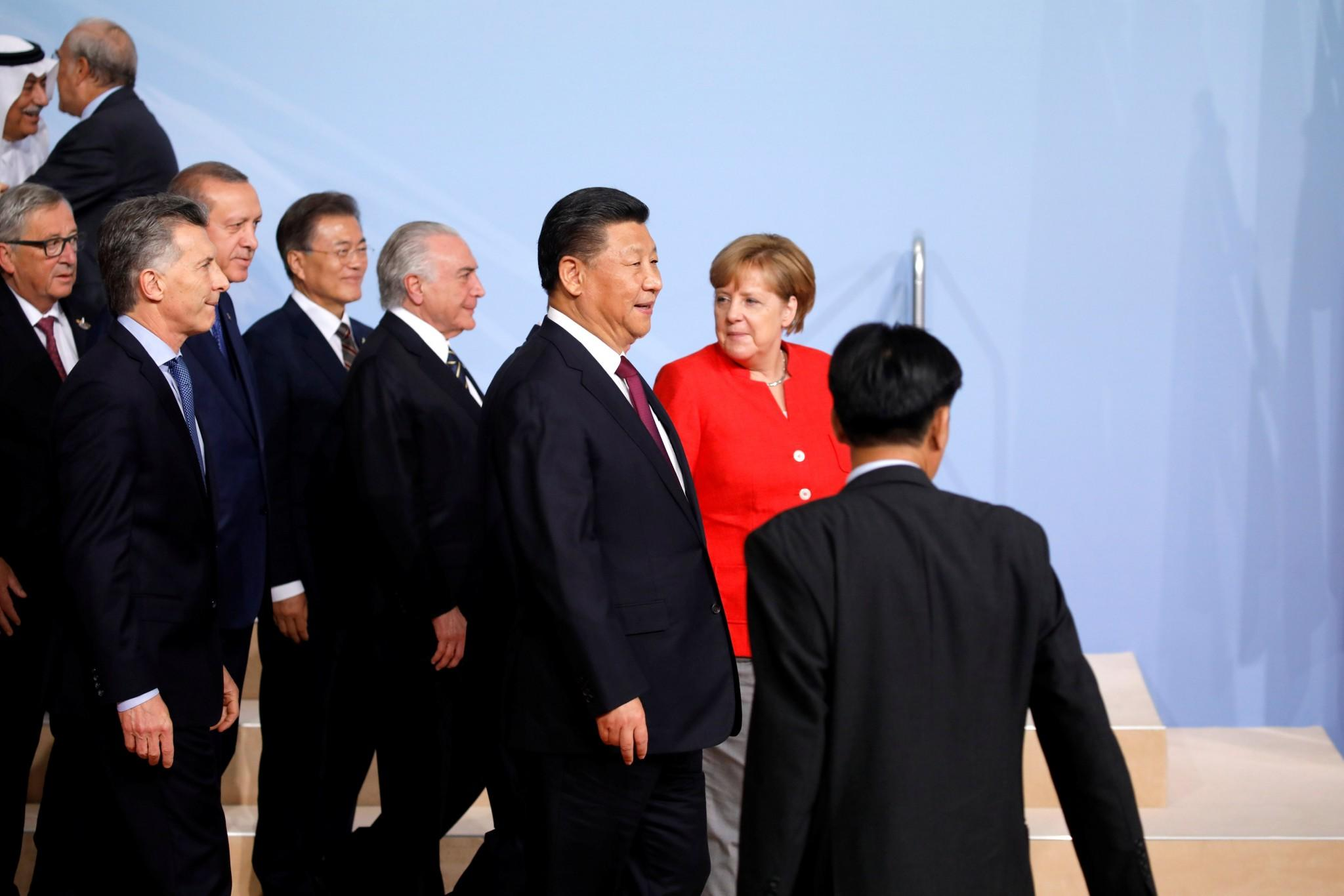World leaders are meeting at the G20 summit in Hamburg