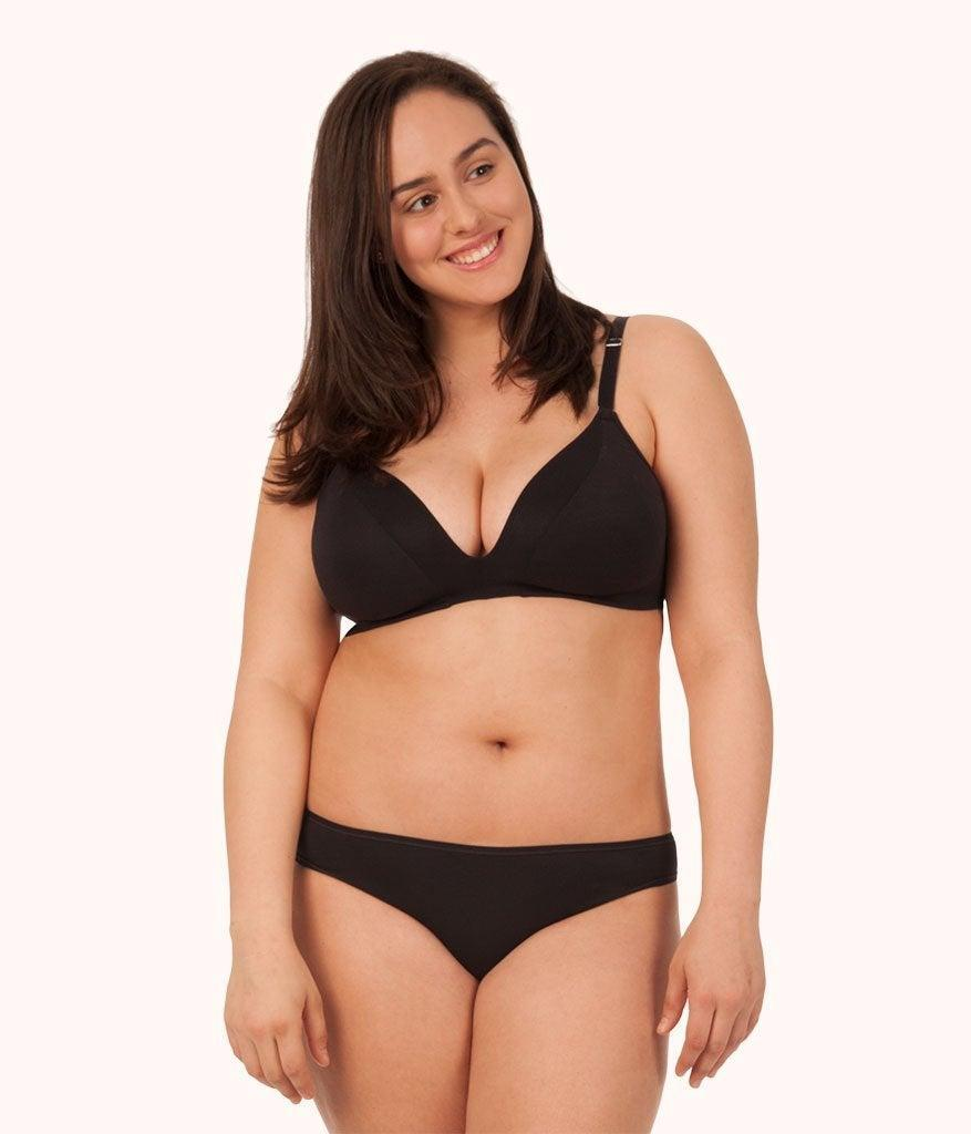 """<h2>Lively</h2><br><strong>Price range: </strong>Up to $10 for undies and $35 for a single bra<strong><br>Sizes available</strong>: XS - XXXL<br><br>While Lively offers customers the option to bundle their purchases, making their already-reasonable retail prices nearly impossible to refuse. Customers swear by their comfy-but-supportive wireless bralettes and cheerfully-printed undies.<br><br><em>Shop <strong><a href=""""https://www.wearlively.com/"""" rel=""""nofollow noopener"""" target=""""_blank"""" data-ylk=""""slk:Lively"""" class=""""link rapid-noclick-resp"""">Lively</a></strong></em><br><br><strong>Lively</strong> The All-Day Deep V No-Wire, $, available at <a href=""""https://go.skimresources.com/?id=30283X879131&url=https%3A%2F%2Fwww.wearlively.com%2Fcollections%2Fthe-sellouts%2Fproducts%2Fthe-all-day-deep-v-no-wire-jet-black%3Fvariant%3D29842543692"""" rel=""""nofollow noopener"""" target=""""_blank"""" data-ylk=""""slk:Lively"""" class=""""link rapid-noclick-resp"""">Lively</a>"""