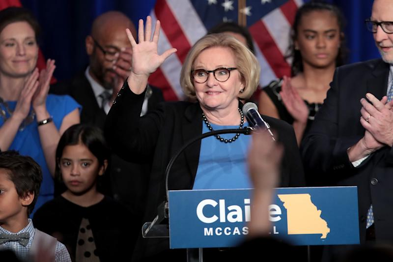 Sen.Claire McCaskill of Missouri was one of at least three Democratic incumbents who lost in states that are whiter than the national population. (Scott Olson via Getty Images)