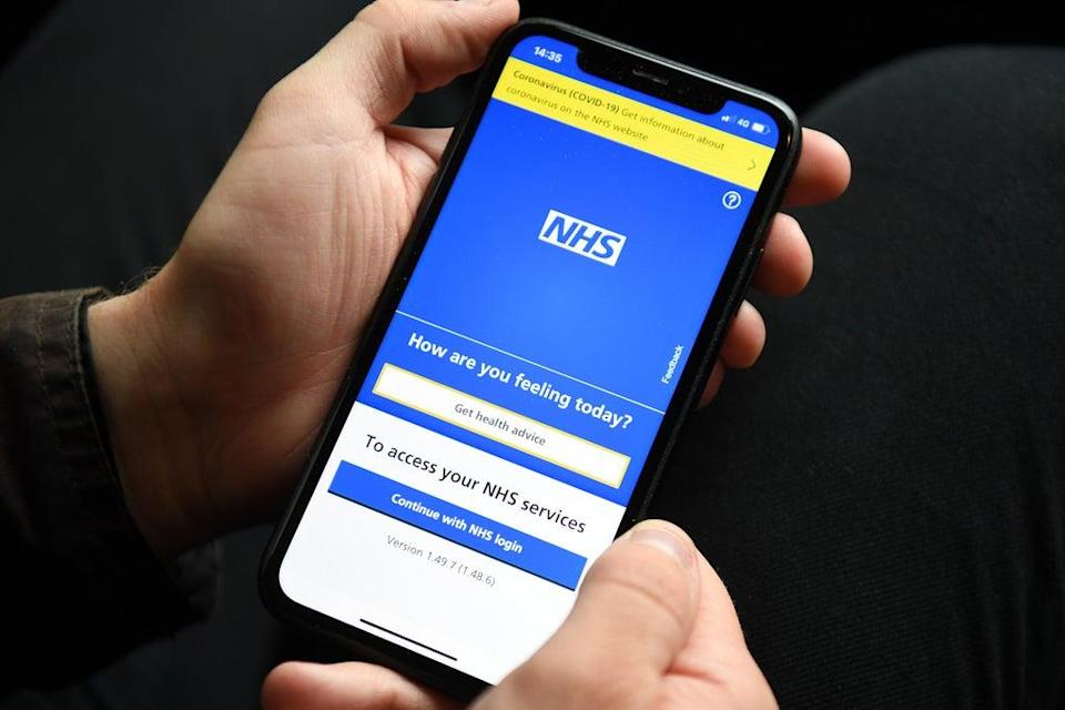 The NHS app has not been working (PA) (PA Wire)