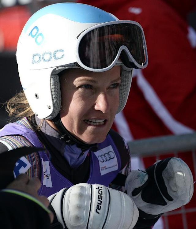 Julia Mancuso, pictured during a training session in Val d''Isere, French Alps, on December 18, 2013