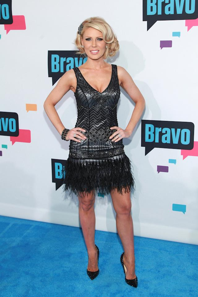 "NEW YORK, NY - APRIL 03:  TV personality Gretchen Rossi of ""The Real Housewives of Orange County"" attends the 2013 Bravo Upfront at Pillars 37 Studios on April 3, 2013 in New York City.  (Photo by Taylor Hill/FilmMagic)"