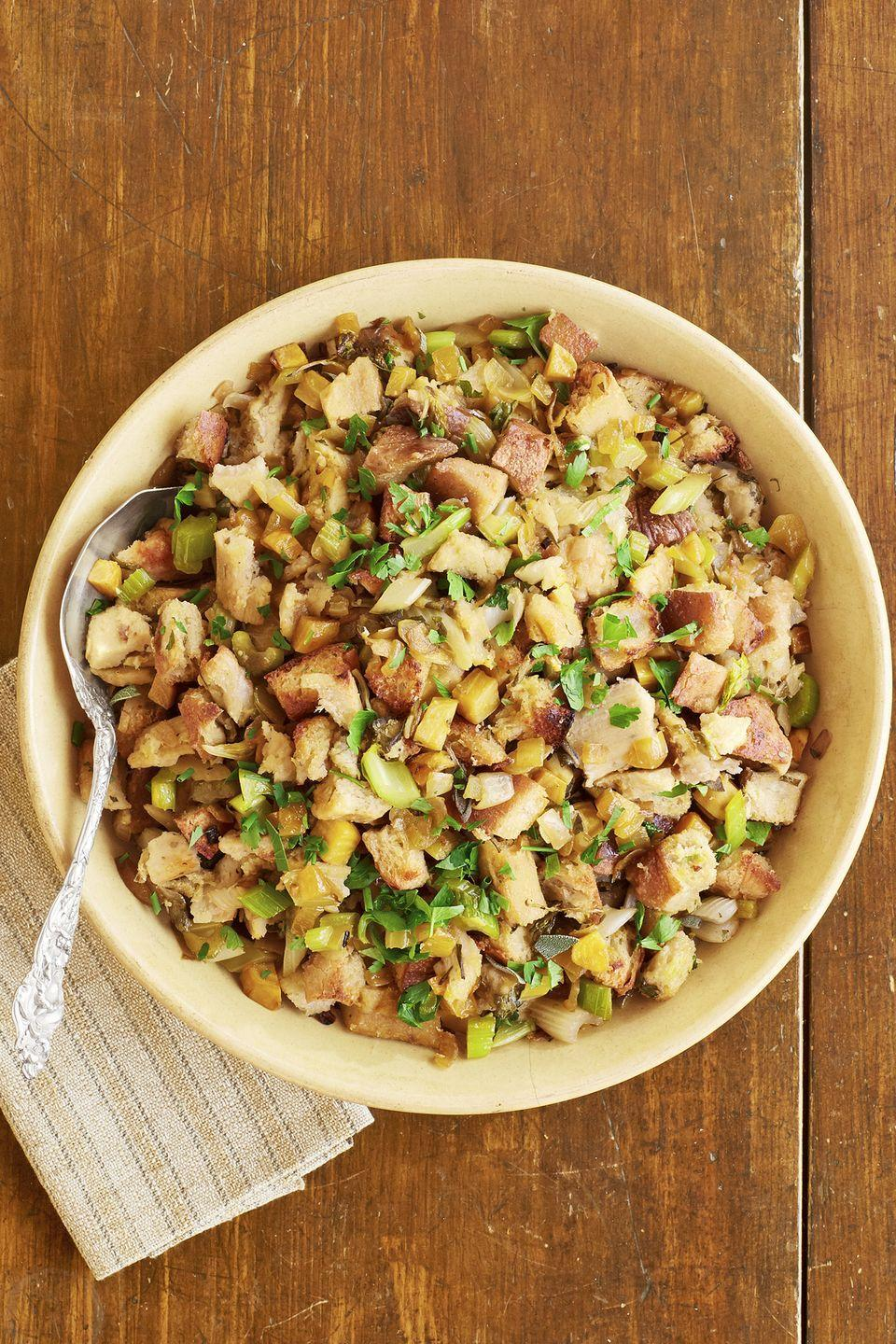 "<p>Dressing, stuffing—no matter what you call it—is a staple at any Thanksgiving dinner, and this spicy version is hard to beat. </p><p><strong><a href=""https://www.countryliving.com/food-drinks/recipes/a45301/tamale-dressing-recipe/"" rel=""nofollow noopener"" target=""_blank"" data-ylk=""slk:Get the recipe"" class=""link rapid-noclick-resp"">Get the recipe</a>.</strong></p><p><a class=""link rapid-noclick-resp"" href=""https://www.amazon.com/Premium-Stainless-Steel-Mixing-Brushed/dp/B01HTYH8YA/?tag=syn-yahoo-20&ascsubtag=%5Bartid%7C10050.g.896%5Bsrc%7Cyahoo-us"" rel=""nofollow noopener"" target=""_blank"" data-ylk=""slk:SHOP MIXING BOWLS"">SHOP MIXING BOWLS</a><br></p>"