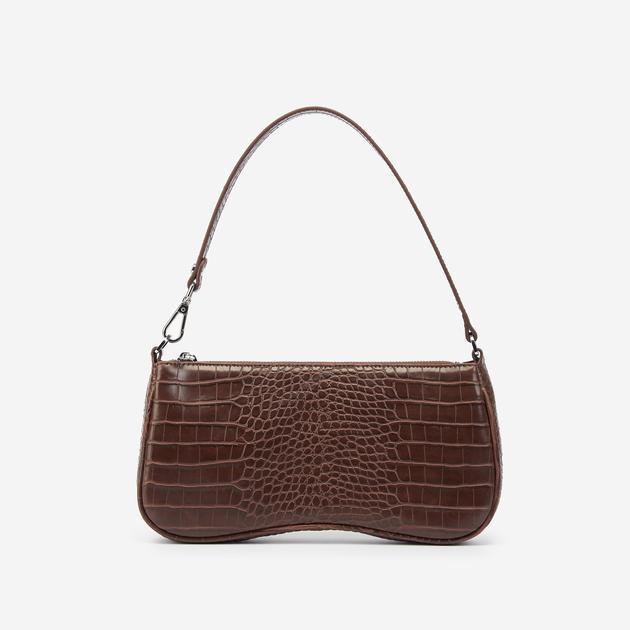 """A mock-croc baguette bag that's chocolate brown? This under-$40 purse really does check off every single one of our boxes. <br> <br> <strong>JW PEI</strong> Eva Shoulder Bag - Brown Croc, $, available at <a href=""""https://go.skimresources.com/?id=30283X879131&url=https%3A%2F%2Fwww.jwpei.com%2Fcollections%2Fshop-all%2Fproducts%2Feva-shoulder-bag-brown-croc"""" rel=""""nofollow noopener"""" target=""""_blank"""" data-ylk=""""slk:JW PEI"""" class=""""link rapid-noclick-resp"""">JW PEI</a>"""