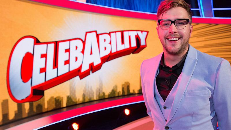 Saskia Schuster commissioned entertainment game show 'CelebAbility', fronted by 'Love Island' voiceover man Iain Stirling. (Credit: ITV)
